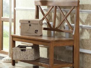 榆木疙瘩 全实木 简欧风格 双人椅  黑白原木3色,椅凳,