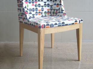 花纹扶手椅/木脚花纹扶手椅,椅凳,