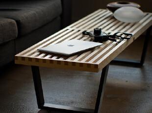 Nelson Platform Bench多功能桌 长凳 陈设台 实木 时尚简约,椅凳,