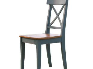 木丁家居 美式乡村木质松木椅子 北欧时尚简约田园餐椅 地中海椅,椅凳,