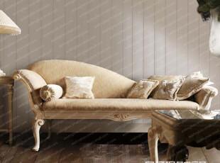 【天猫原创】奥汀堡法式新凡尔赛 双人休闲椅/贵妃椅1160G,椅凳,