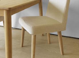 木聪良品家具 日式实木北欧现代风格 白橡木餐椅 超强坐感DC-336,椅凳,