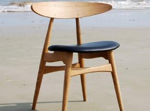 野橡 yeoak CH33 实木 美国白橡 餐椅 椅子全实木 真皮,椅凳,