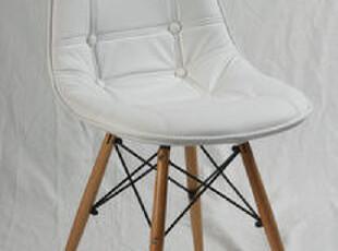伊姆斯皮椅/皮质伊姆斯木架/PU皮/餐椅/PC-016W(S)包皮白,椅凳,