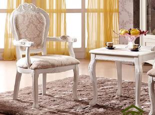 宜家之主 欧式餐椅 实木田园布艺 奢华新古典高档酒店椅子YJ609,椅凳,