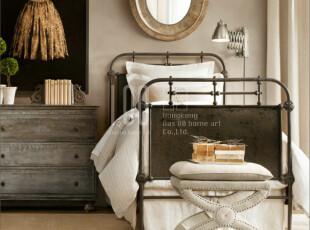 法式家具,复古实木床尾凳,出口家具,麻布面料床尾凳aviva,椅凳,
