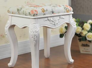 欧式梳妆凳 化妆凳 坐凳 凳子 海绵坐凳 象牙白烤漆X10,椅凳,