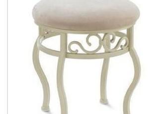 欧式田园风格 铁艺梳妆凳 铁艺坐凳梳妆椅 坐凳 床尾凳 矮凳凳子,椅凳,