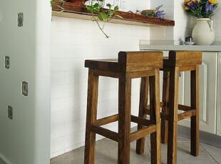 地中海家具 实拍! 实木 普罗旺斯吧凳 吧椅吧台椅【预定】00,椅凳,