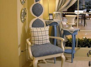 地中海家具装饰椅 美式田园风格 实木做旧 时尚开放漆展示 椅子,椅凳,