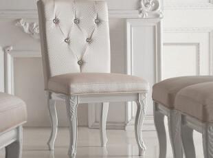 名匠轩家具 贵族时尚 2012最新款公主风皮艺餐椅 椅子 065873,椅凳,