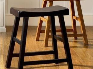 美式乡村实木吧凳 条凳 休闲凳,椅凳,
