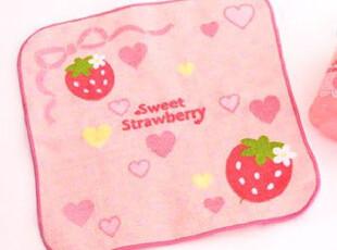 Mother Gardenの甜美粉嫩草莓爱心蝴蝶结小毛巾方巾手帕,毛巾,