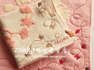 一广外贸出口日本瑟林猫咪小方巾手帕擦手巾,毛巾,