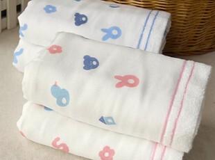 出口日本原单 一广毛巾 宝宝玩具 超柔软厚实棉纱长毛巾 面巾,毛巾,