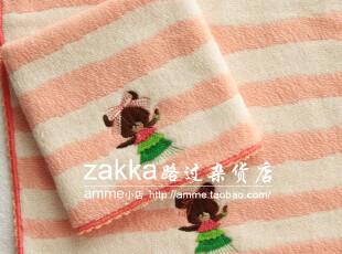 amme小店外贸出口纯棉舞蹈小熊小方巾毛巾环保便携手帕擦手巾,毛巾,