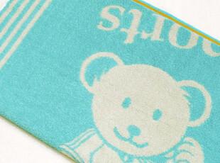 日本美术馆原单正品 运动小熊 纯棉全棉浴巾,毛巾,