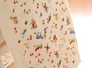 日本订单 好品质 乡野生活 纯棉纱布+毛圈毛巾浴巾儿童夏日午睡毯,毛巾,