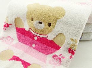 金号毛巾专柜正品 渐变熊仔儿童毛巾批发纯棉 情侣2色 创意礼品,毛巾,