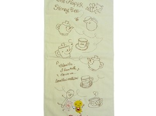【预订】日本代购正品Karel Capek红茶店刺绣浴巾毛巾KC05 A,毛巾,
