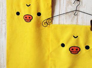 轻松熊 猪鼻孔小黄鸡 超强吸水卡通毛巾/洗脸面巾/小方巾/擦手巾,毛巾,