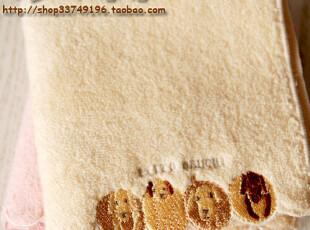 日本订单优质家居zakka狗狗 纯棉无捻纱小方巾环保毛巾手帕擦汗巾,毛巾,