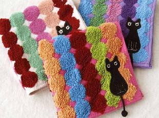 日本原单 俣野温子 波点纱布提花 猫尾 可爱儿女士方毛巾手帕,毛巾,