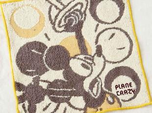 出口日本原单 DISNEY 米奇提花 可爱儿童小方毛巾手帕,毛巾,