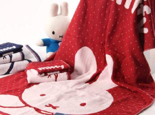 包邮 金号米菲兔 纯棉浴巾 双层无捻卡通 情侣款式 礼物,毛巾,
