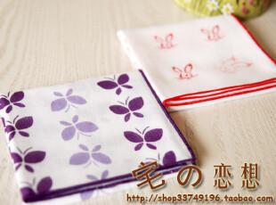 出口日本 纯棉两层纱布单面印花大方巾环保手帕餐巾垫围脖擦汗巾,毛巾,
