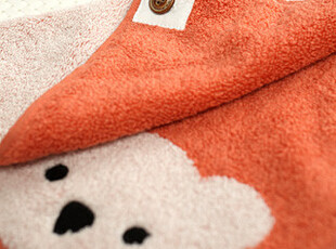 懒角落★创意家居 可爱卡通 金号 纯色熊仔 纯棉 方巾手帕 35094,毛巾,