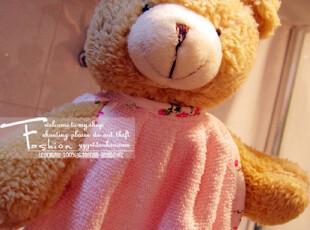 【满88包邮】萌系小熊头手工花围裙款擦手巾 毛巾 可脱卸带挂绳,毛巾,
