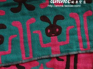 外贸出口日本タオル美術館双层纱布体操兔大方巾手帕,毛巾,