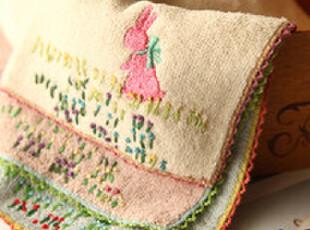 小红莓生活馆  精品刺绣 人工刺绣毛巾手帕 方巾,毛巾,