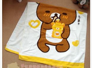 出口日本原单卡通浴巾外贸日单儿童大人大浴巾纯棉沙滩巾 轻松熊,毛巾,