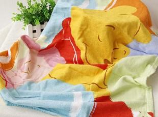 出口日本原单 DISNEY 维尼割绒纱布印花纯棉全棉儿童浴巾,毛巾,