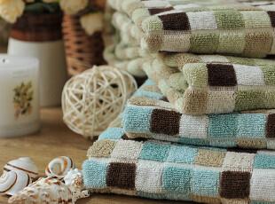 JF5057 进口长绒棉 色织提花 马赛克 浴巾,毛巾,