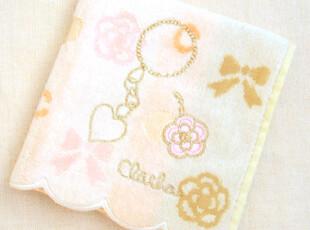 日本原单 CLATHAS山茶花 提花刺绣 纯棉全棉女士手帕/小方巾/HBM,毛巾,