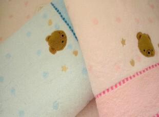 专柜正品金号可爱小熊67*130 儿童宝宝款 柔软舒适无捻纱纯棉浴巾,毛巾,