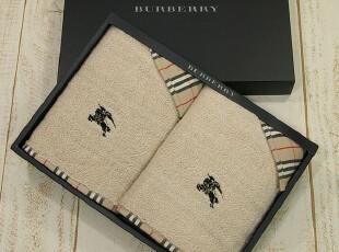 限量纪念款 日本制 BURBERRY 巴宝莉奢华毛巾礼盒情人节礼盒 新婚,毛巾,