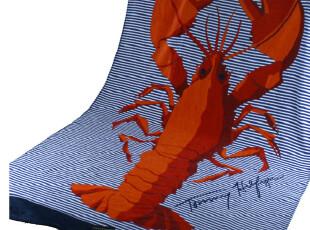 外贸原单 tommy品牌 纯棉 剪绒 浴巾 沙滩巾 龙虾 超大 1米*1.8,毛巾,