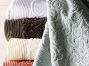 简单的奢华 中国风祥云600克葡萄牙上等纯棉丝绒割绒浴巾 限时9折,毛巾,