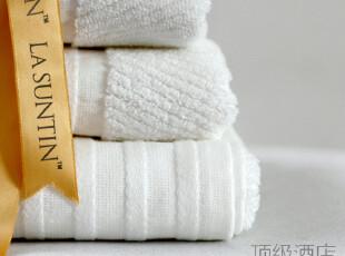 出口外贸 顶级酒店纯棉浴巾毛巾白色套装 礼品套装加大加厚可批发,毛巾,