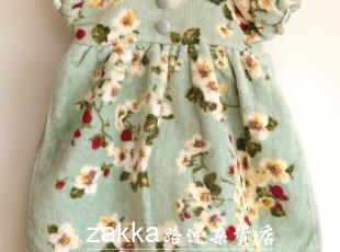 pink house翻领裙挂式纯棉擦手毛巾(送衣架),毛巾,