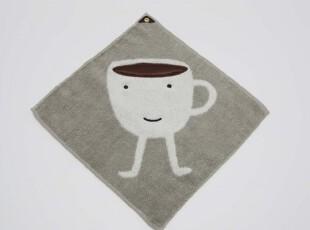 外贸日本タオル美術館纯棉挂式小茶杯擦手毛巾手帕,毛巾,
