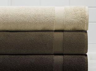 简单的奢华 土耳其制造802克上等超吸水长绒纯棉浴巾米棕色系列,毛巾,