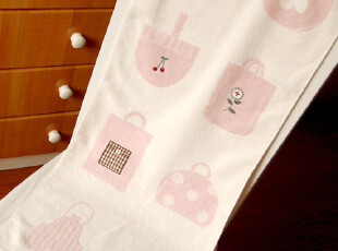 日本优质家居zakka收藏款 野温子 精美贴布刺绣 纯棉毛圈毛巾面巾,毛巾,