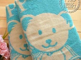 外贸出口日单!一广 可爱小熊 无捻纱 轻柔吸水纯棉 浴巾,毛巾,