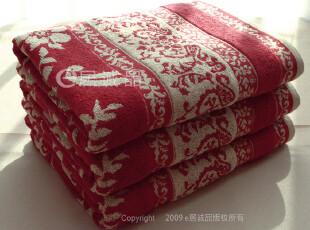原单出口毛巾浴巾 纯棉加厚双面提花断档刺绣浴巾(750g)140*80cm,毛巾,