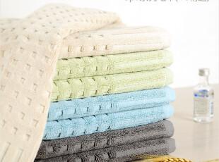 美国spa 全棉加大加厚毛巾 情侣 埃及棉按摩洁面巾美容巾 2条装,毛巾,